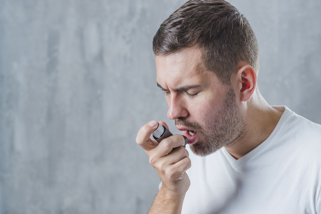 a man with asthma